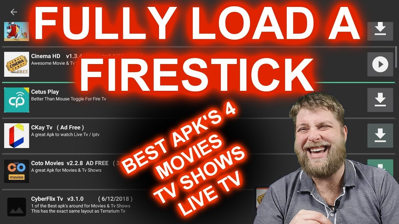 Fully Load A Firestick With All The Best Streaming Apps / Apk's