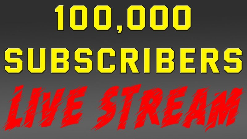 100k Subscriber LIVE STREAM — & Winners Announced