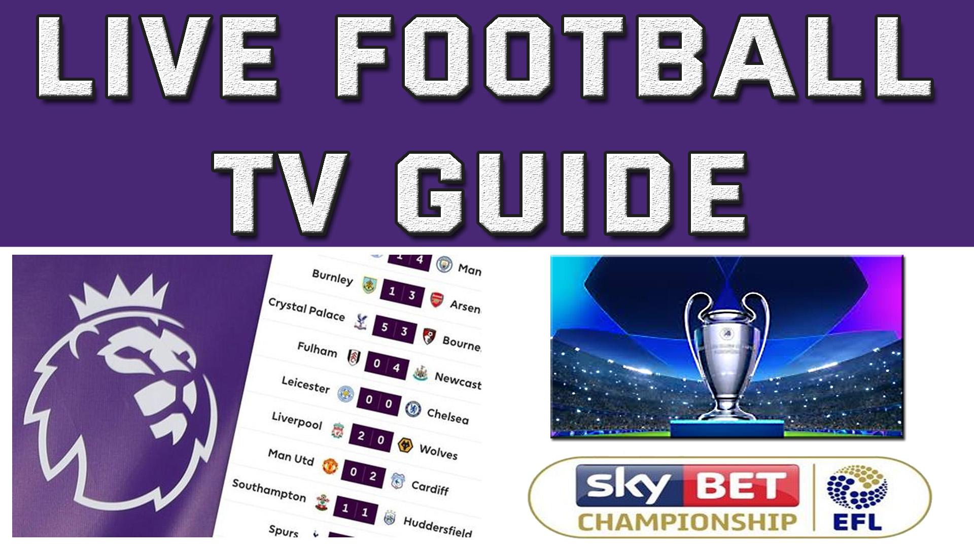 Live Football TV Guide, Soccer TV Guide