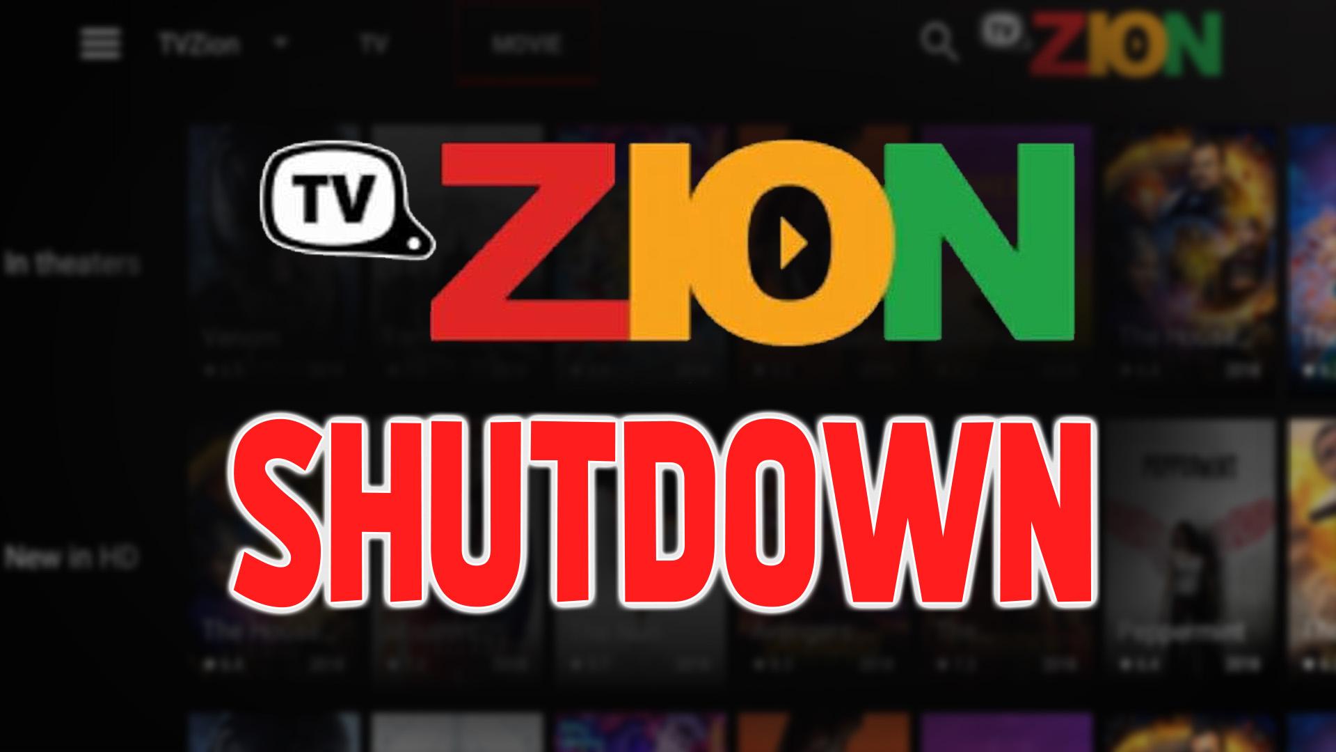 TVZion Shutdown
